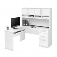 Innova Plus L-shaped desk in White