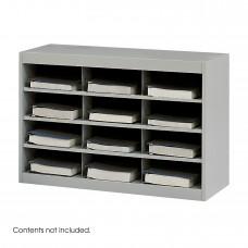 E-Z Stor® Steel Project Organizer, 12 Compartments - Gray