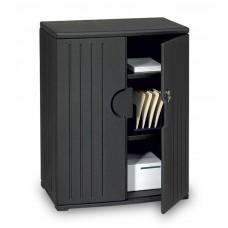 "OfficeWorks 46"" Storage Cabinet - Black"