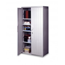 "OfficeWorks 72"" Storage Cabinet - Platinum"