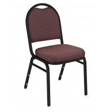 Diamond Burgundy Dome Fabric  Upholstered Padded Pattern Stack Chairs Black Sandtex Frame