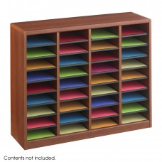 E-Z Stor® Wood Literature Organizer, 36 Compartments - Cherry