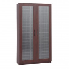 60 Compartment Literature Organizer With Doors - Mahogany