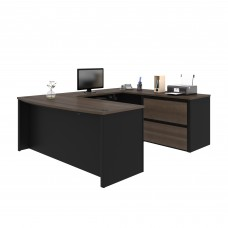 Connexion U-shaped workstation in Antigua & Black