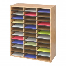 Wood/Corrugated Literature Organizer, 36 - Medium Oak