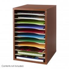 Vertical Desk Top Sorter - 11 Compartment - Cherry