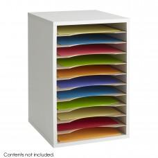 Vertical Desk Top Sorter - 11 Compartment - Gray