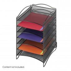 Onyx™ 6 Compartment Mesh Literature Organizer - Black