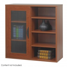 Apres™ Modular Storage Single Door/ Open Shelves - Cherry