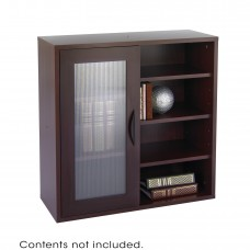 Apres™ Modular Storage Single Door/ Open Shelves - Mahogany