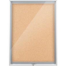 Enclosed Bulletin Board - 1.5X2 - Natural Cork