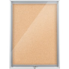 Enclosed Bulletin Board - 2X3 - Natural Cork