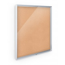 Enclosed Bulletin Board - 3X4 - Natural Cork