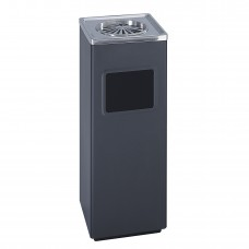 Square Ash And Trash Receptacle - Black