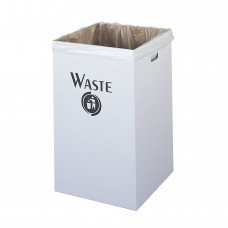 Corrugated Waste Receptacle (Qty. 12) - White