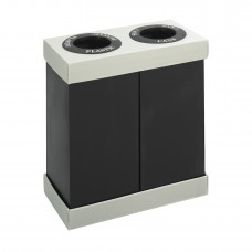 At-Your-Disposal® Recycling Center Double - Black/Chrome