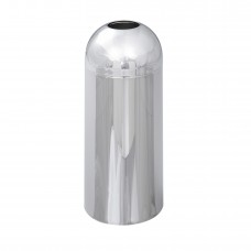 Reflections By Safco® Open Top Dome Receptacle, Chrome - Chrome