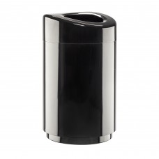 Safco Products Open Top Trash Receptacle with Liner 9920BL Black