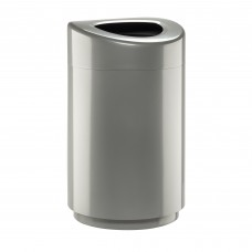 Safco Products Open Top Trash Receptacle with Liner 9920SL Silver