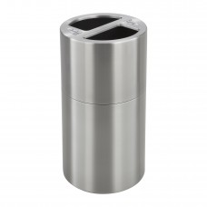 Dual Recycling Receptacle - Stainless Steel