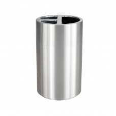 Triple Recycling Receptacle - Stainless Steel