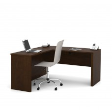 Prestige + L-shaped workstation in Chocolate