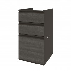 Prestige + pedestal (ready-to-assemble) in Bark Gray & Slate