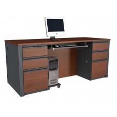 Prestige + executive desk in Bordeaux & Graphite