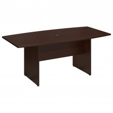 Bush Business Furniture Series C 72L x 36W Boat Top Conference Table - Wood Base