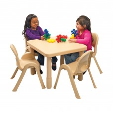 """Value 28"""" Square Table - Natural Tan with 20"""" Legs"""