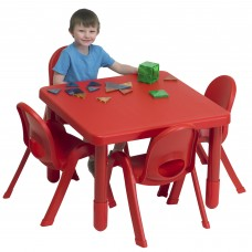 Preschool MyValue™ Set 4 Square - Candy Apple Red