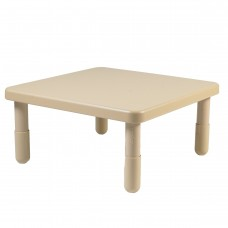 """Value 28"""" Square Table - Natural Tan with 14"""" Legs"""