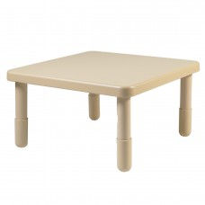 """Value 28"""" Square Table - Natural Tan with 16"""" Legs"""