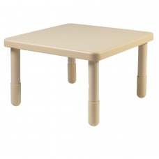 """Value 28"""" Square Table - Natural Tan with 18"""" Legs"""