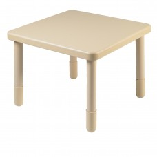"""Value 28"""" Square Table - Natural Tan with 22"""" Legs"""
