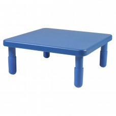 """Value 28"""" Square Table - Royal Blue with 12"""" Legs"""