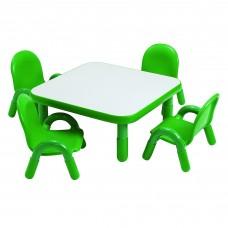 "BaseLine® Toddler 30"" Square Table & Chair Set - Shamrock Green"
