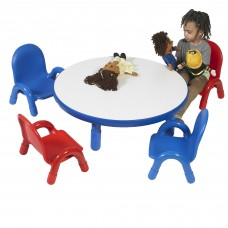 "BaseLine® Toddler 36"" Diameter Round Table & Chair Set - Royal Blue"