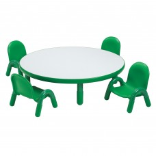 "BaseLine® Toddler 36"" Diameter Round Table & Chair Set - Shamrock Green"