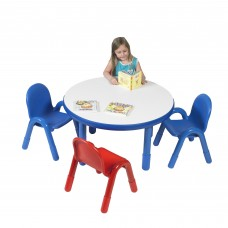 "BaseLine® Preschool 36"" Diameter Round Table & Chair Set - Royal Blue"