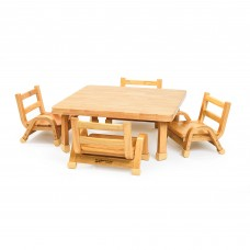 NaturalWood™ Collection Toddler Square Table & Chair Set
