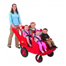 "4 Passenger Never Flat ""Fat Tire"" Red/Grey Bye-Bye Buggy®"