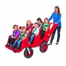 "6 Passenger Never Flat ""Fat Tire"" Red/Grey Bye-Bye Buggy®"