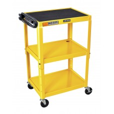 Luxor Adjustable Height Yellow Metal A/V Cart