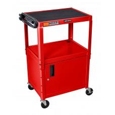 "Luxor Red 42"" Adj Height Cart w/ Cabinet"