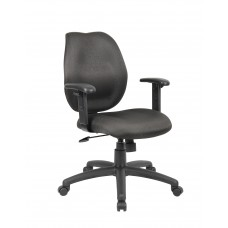 Black Task Chair W/ Adjustable Arms