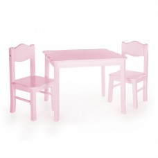 Classic Table and Chair Set - Pink
