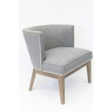 Ava Accent Chair - Medium Grey