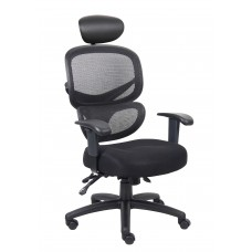 Multi-Function Mesh Task Chair w/Headrest