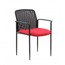 Stackable Mesh Guest Chair - Red